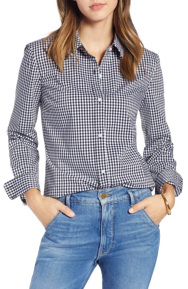 1901 Stretch Cotton Blend Shirt, Main, color, 002