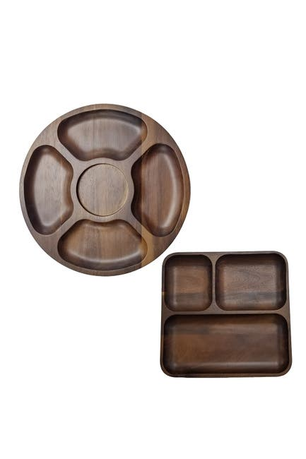 Image of BergHOFF Acacia Wood 2-Piece Tray Set