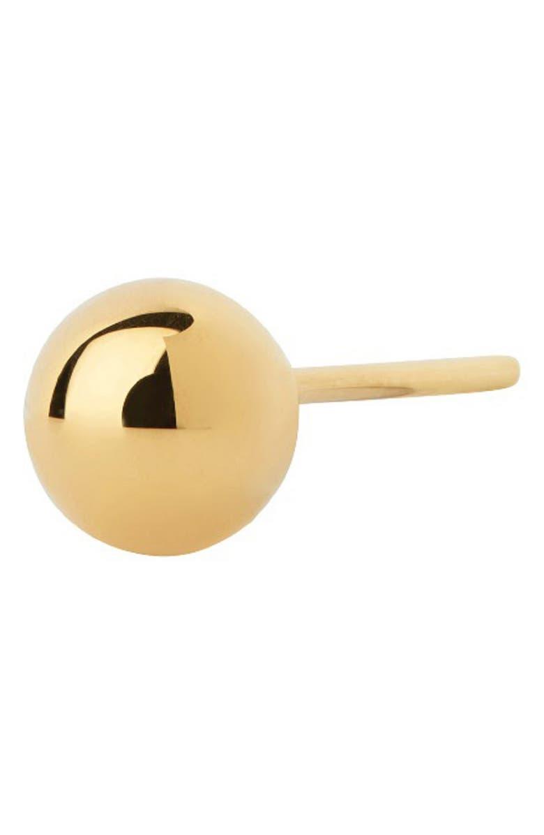 MARIA BLACK Classic Corvi Post Earring, Main, color, HIGH POLISHED GOLD
