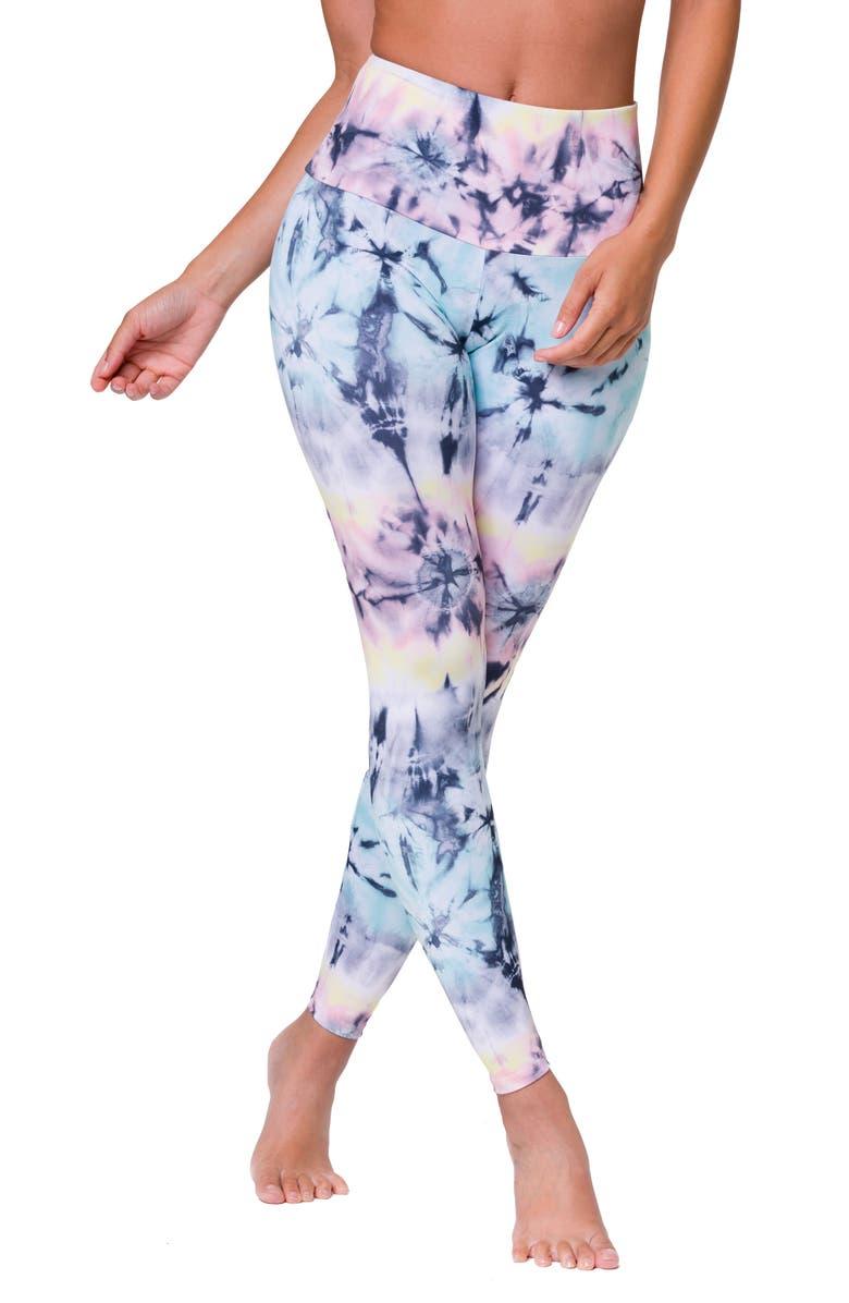 ONZIE High Waist Print Leggings, Main, color, DAZED