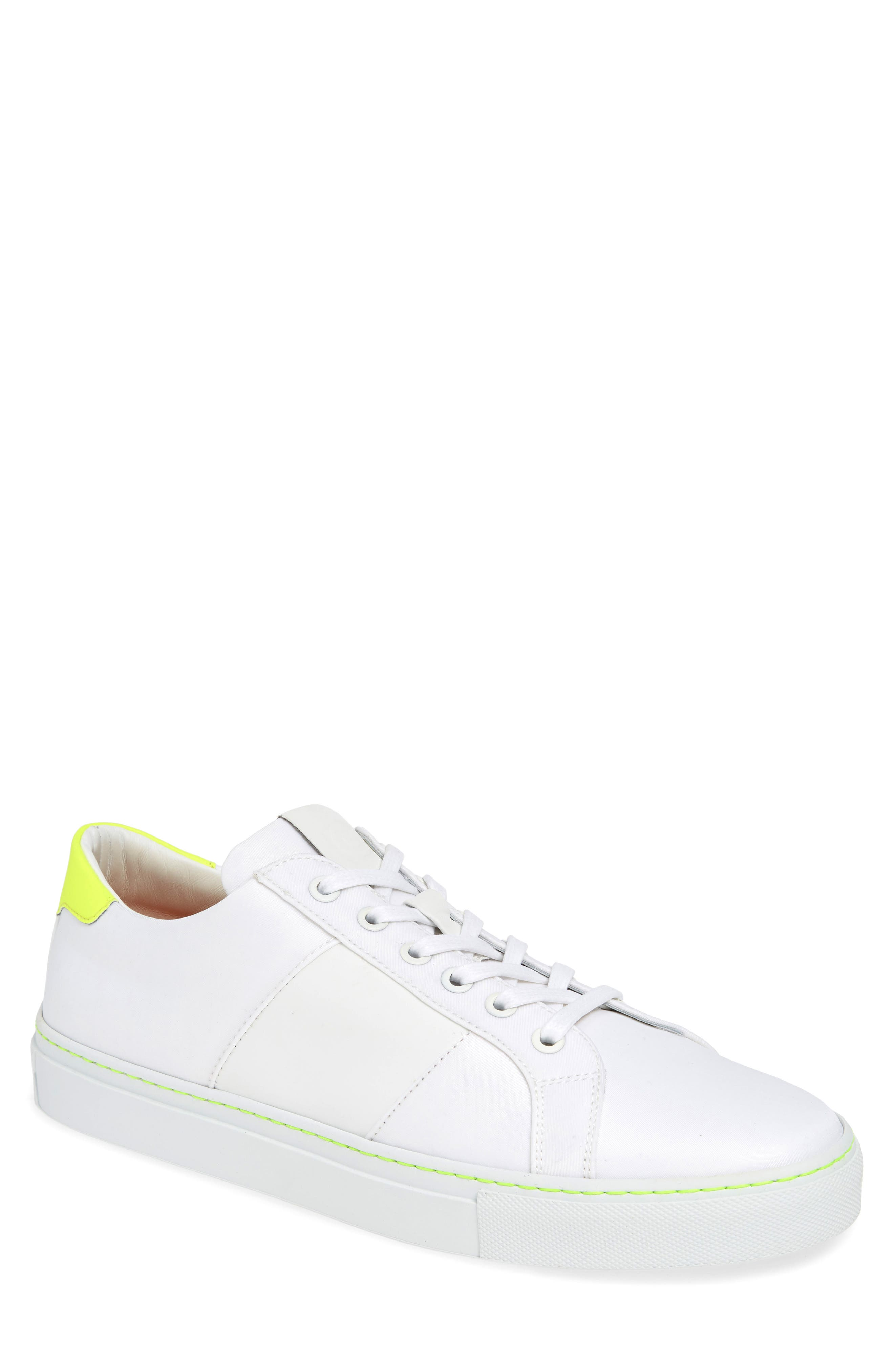 Royale Ripstop Sneaker, Main, color, WHITE/ NEON