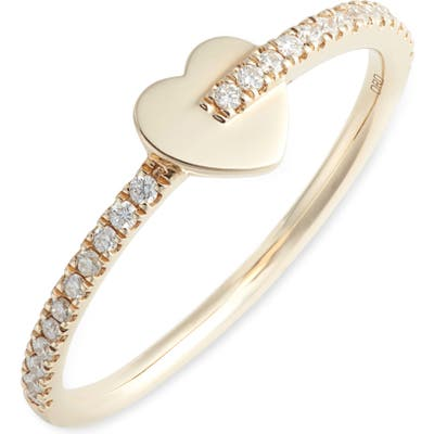Dana Rebecca Designs Livi Gold Heart Diamond Ring