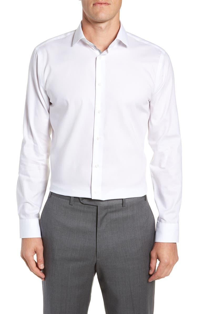 CALIBRATE Trim Fit Dress Shirt, Main, color, 100