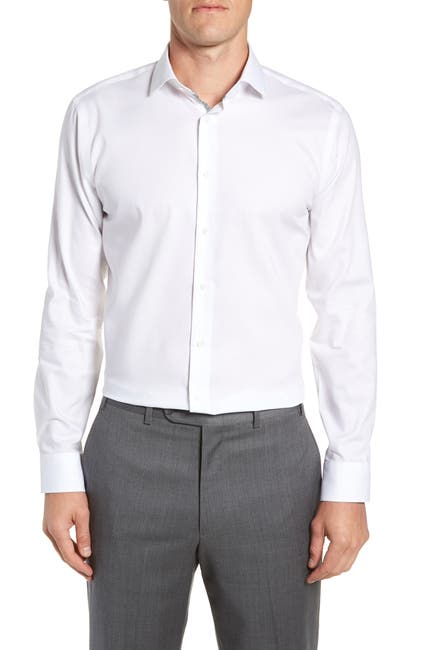 Calibrate Men's Trim Fit Dress Shirt (White)