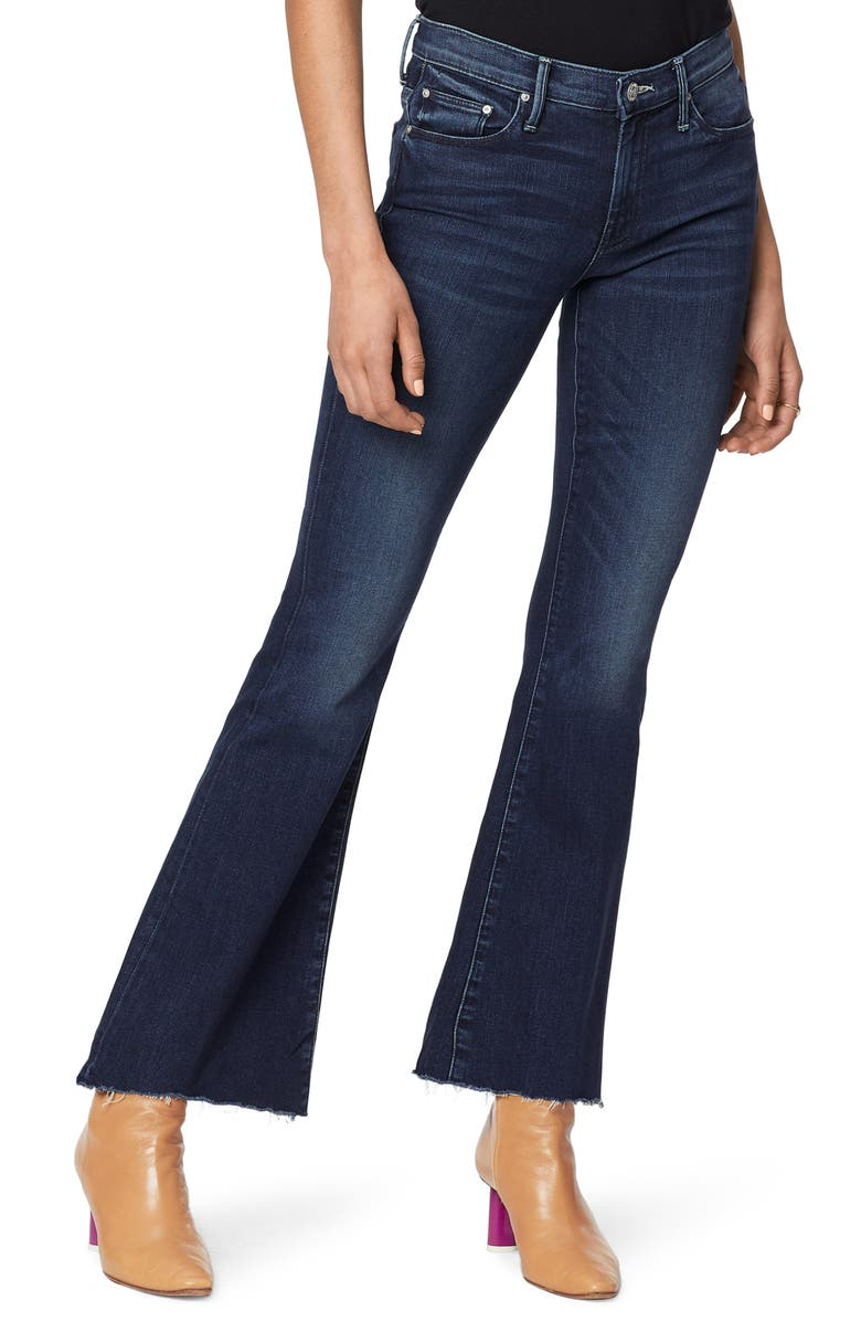 MOTHER The Weekend High Waist Fray Hem Flare Jeans, Main, color, 401