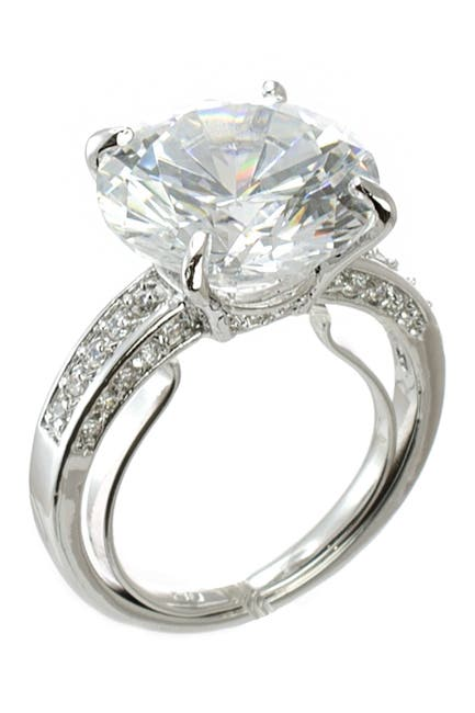 Image of CZ By Kenneth Jay Lane Extra Large Round CZ Ring