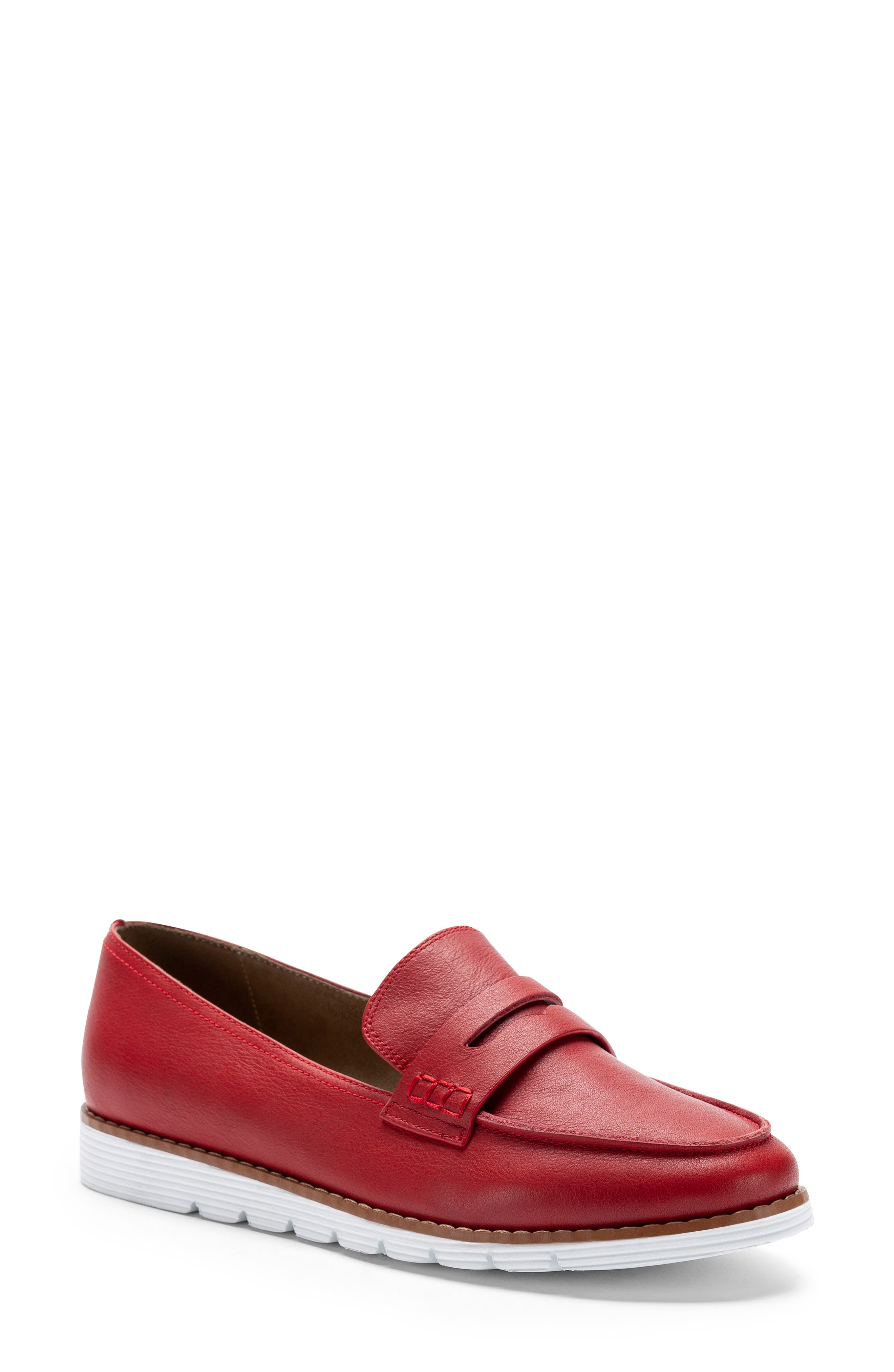 Blondo Waterproof Penny Loafer- Red