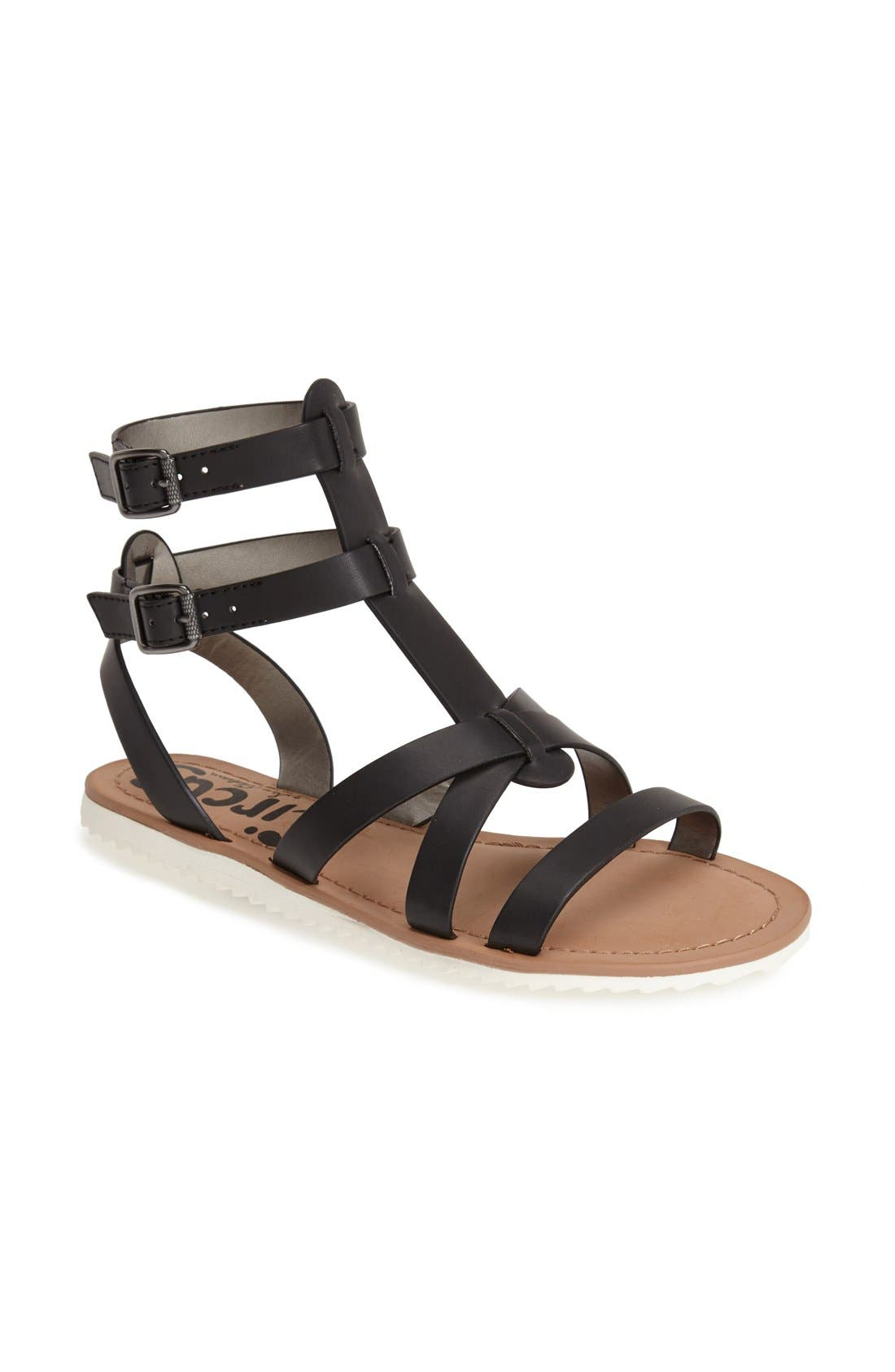 ,                             'Selma' Gladiator Sandal,                             Main thumbnail 1, color,                             001