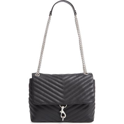 Rebecca Minkoff Edie Flap Quilted Leather Shoulder Bag - Black