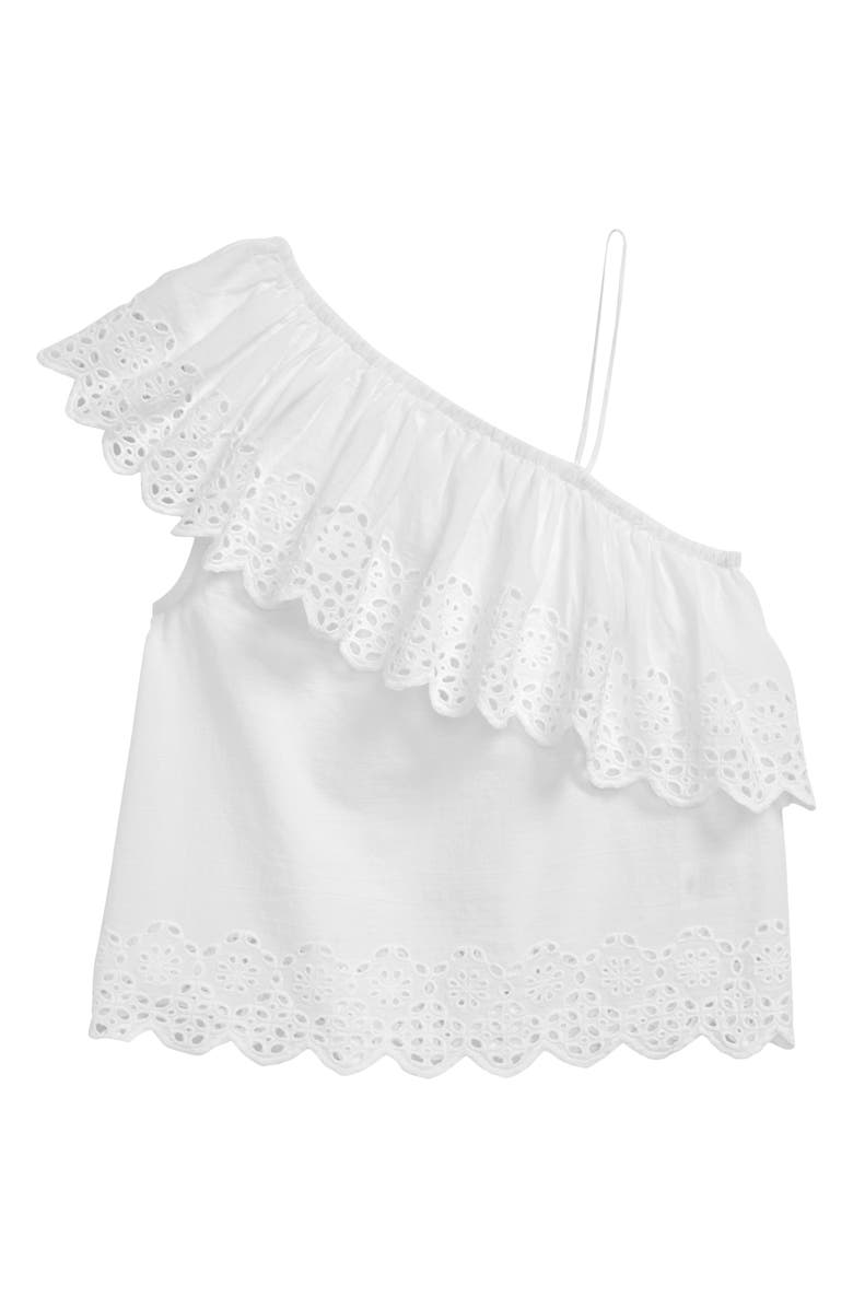 Tucker Tate Eyelet One Shoulder Top Little Girls Big Girls