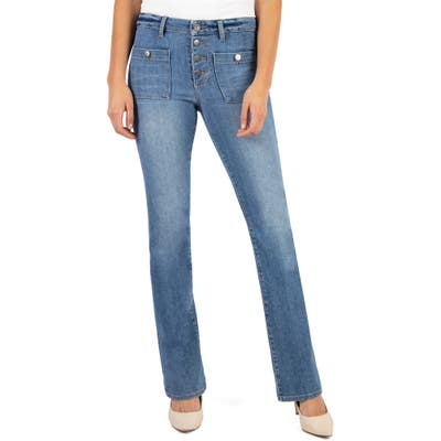 Kut From The Kloth Stella High Waist Flare Jeans, Blue