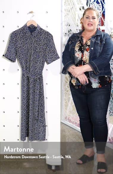 Doha Short Sleeve Silk Shirtdress, sales video thumbnail