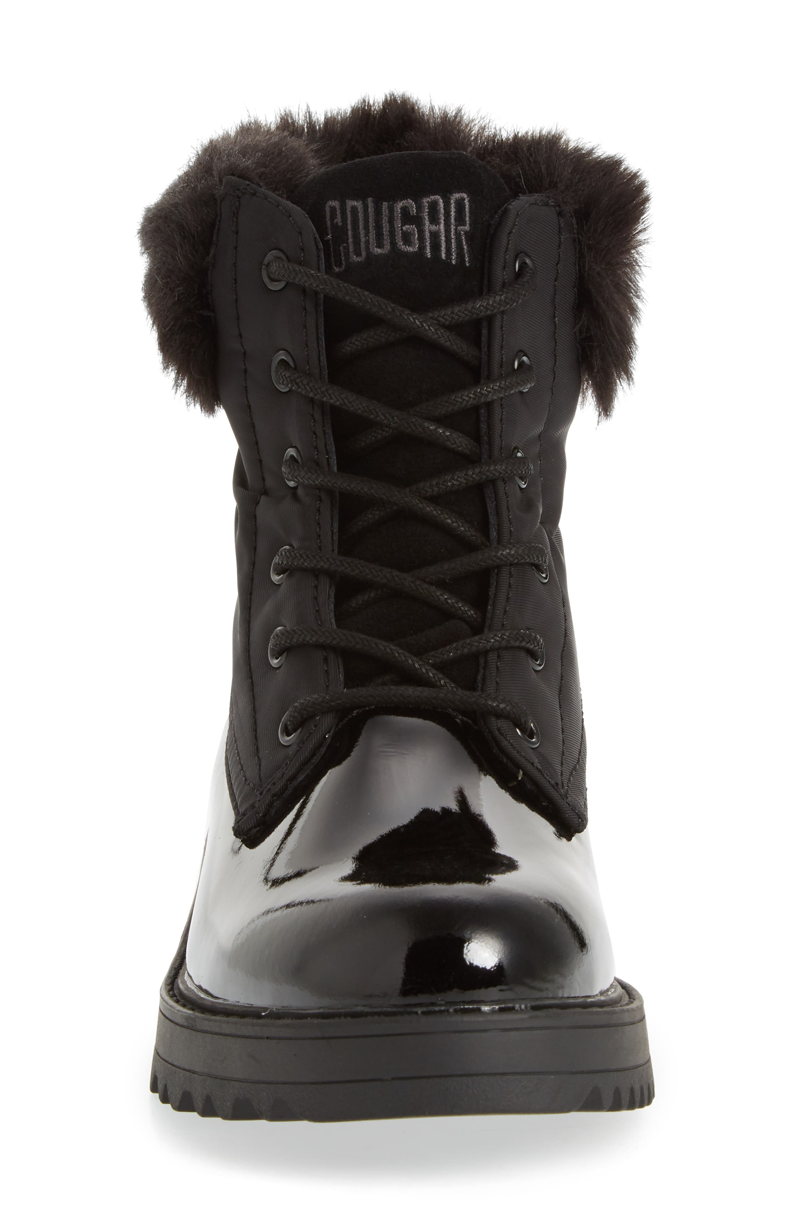 ,                             Gatineau Waterproof Insulated Boot with Faux Fur Collar,                             Alternate thumbnail 4, color,                             001