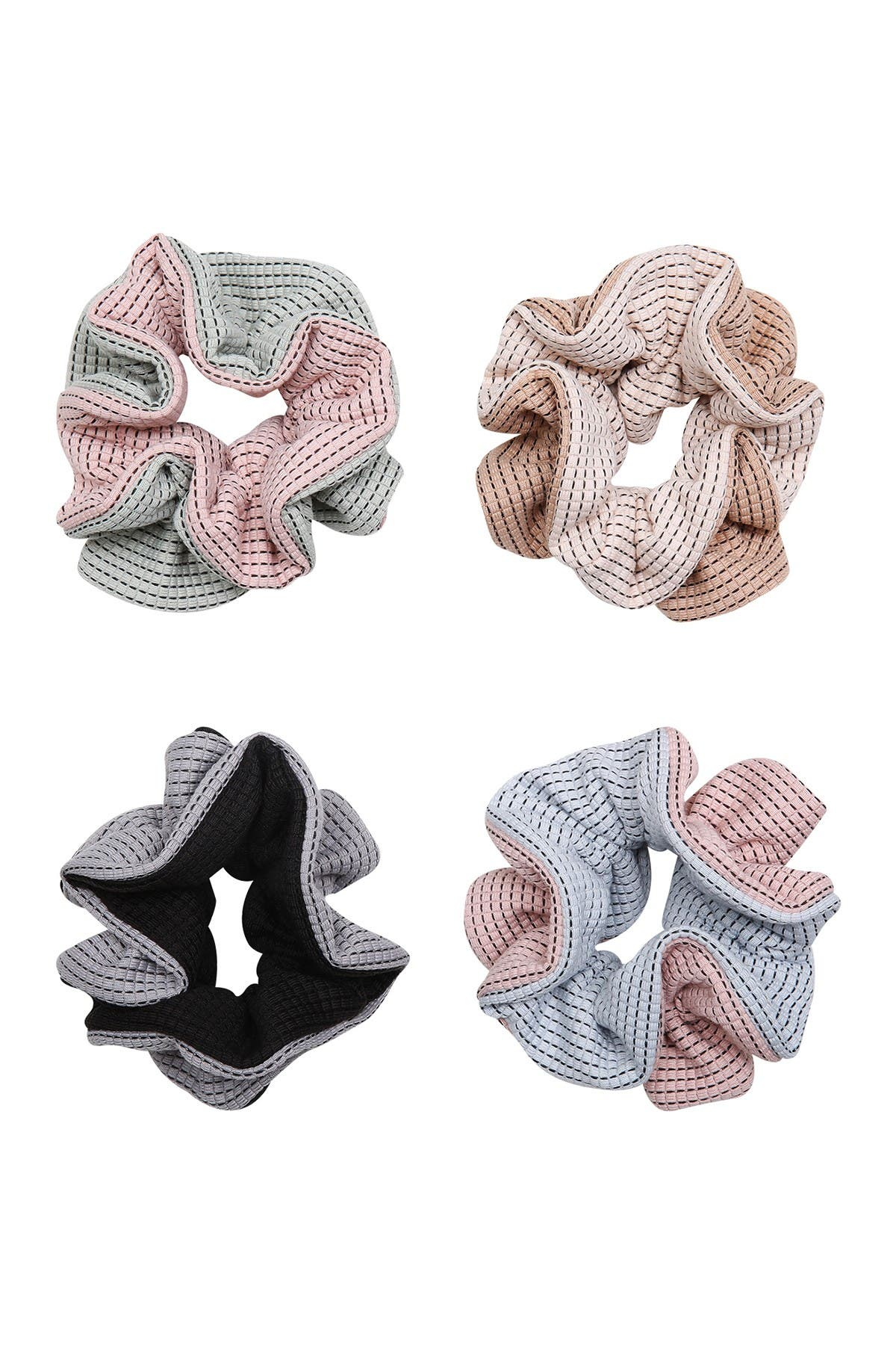 Image of Berry Ruffle Lounge Scrunchie Set - Pack of 4