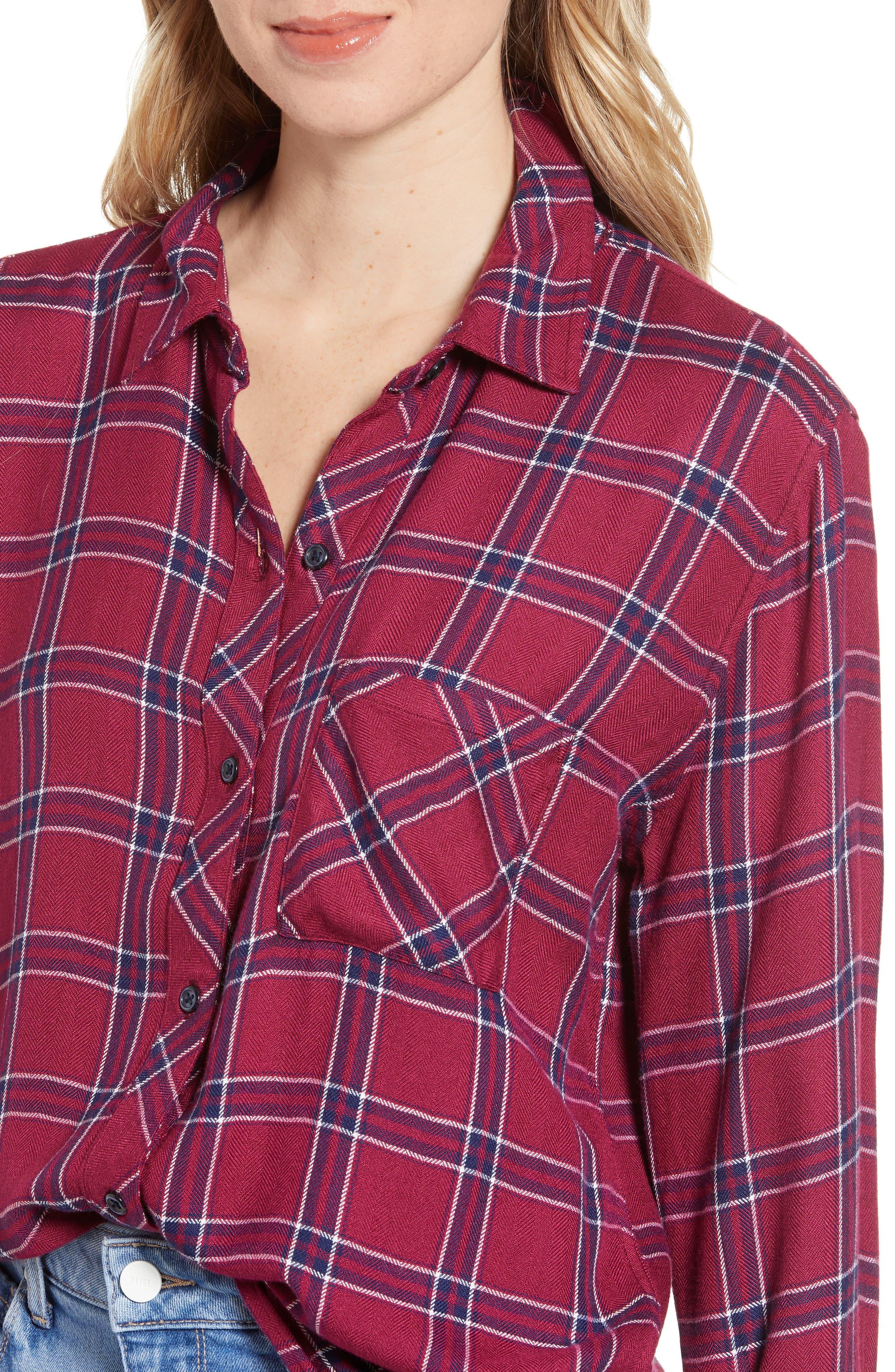 ,                             Hunter Plaid Shirt,                             Alternate thumbnail 32, color,                             935