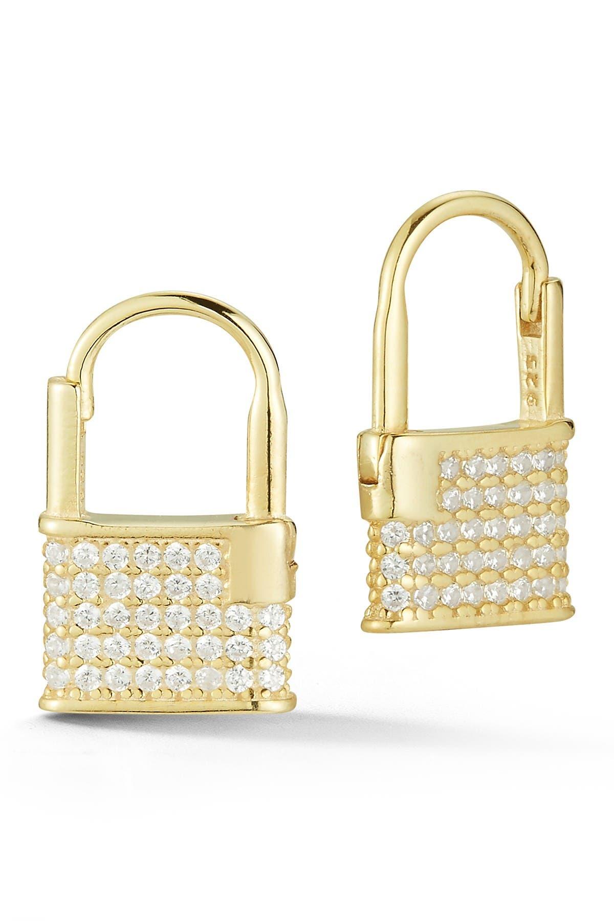 Image of Sphera Milano Gold Vermeil Padlock Earrings