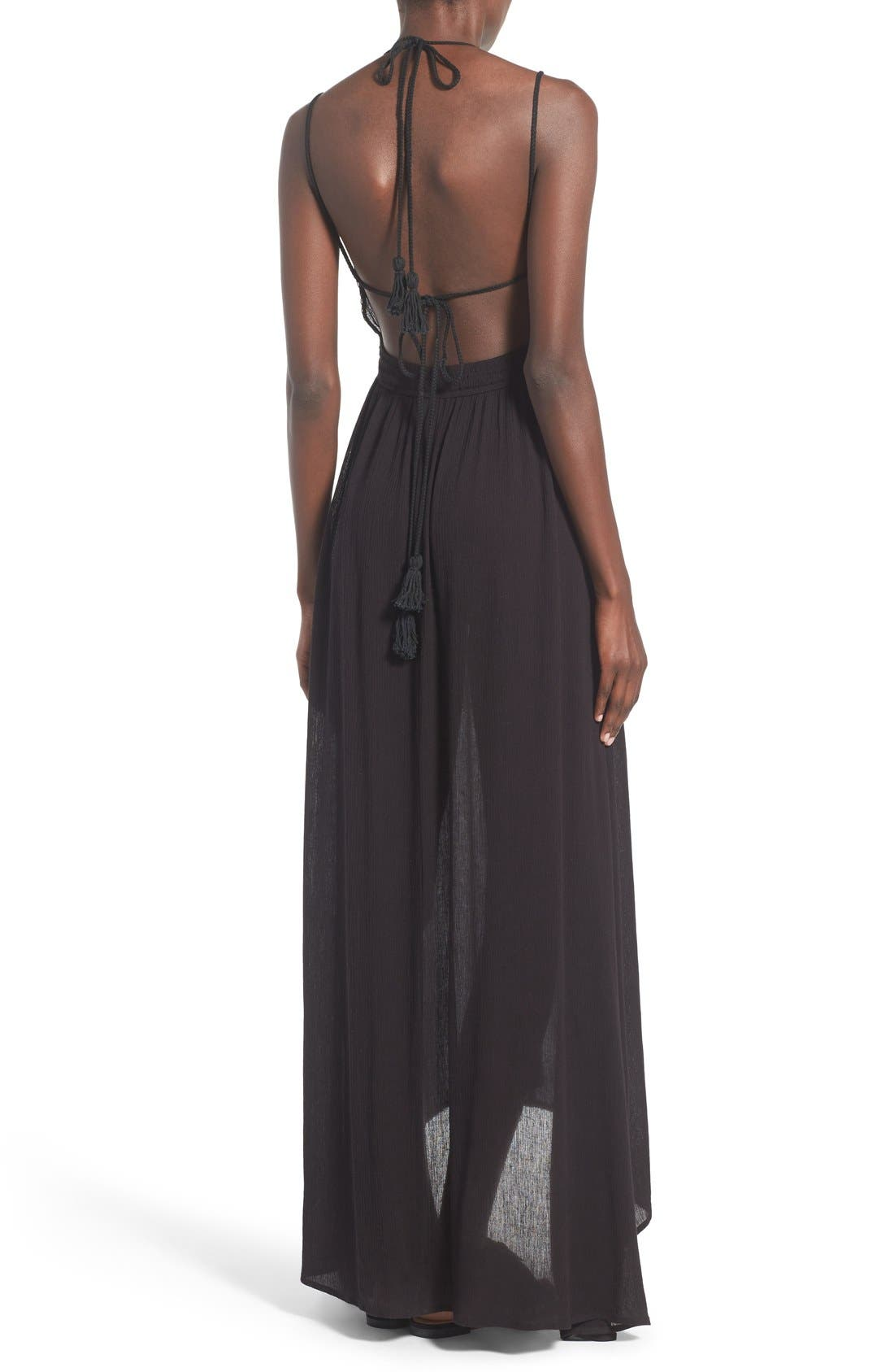 ,                             ASTR 'Belen' Maxi Dress,                             Alternate thumbnail 3, color,                             001