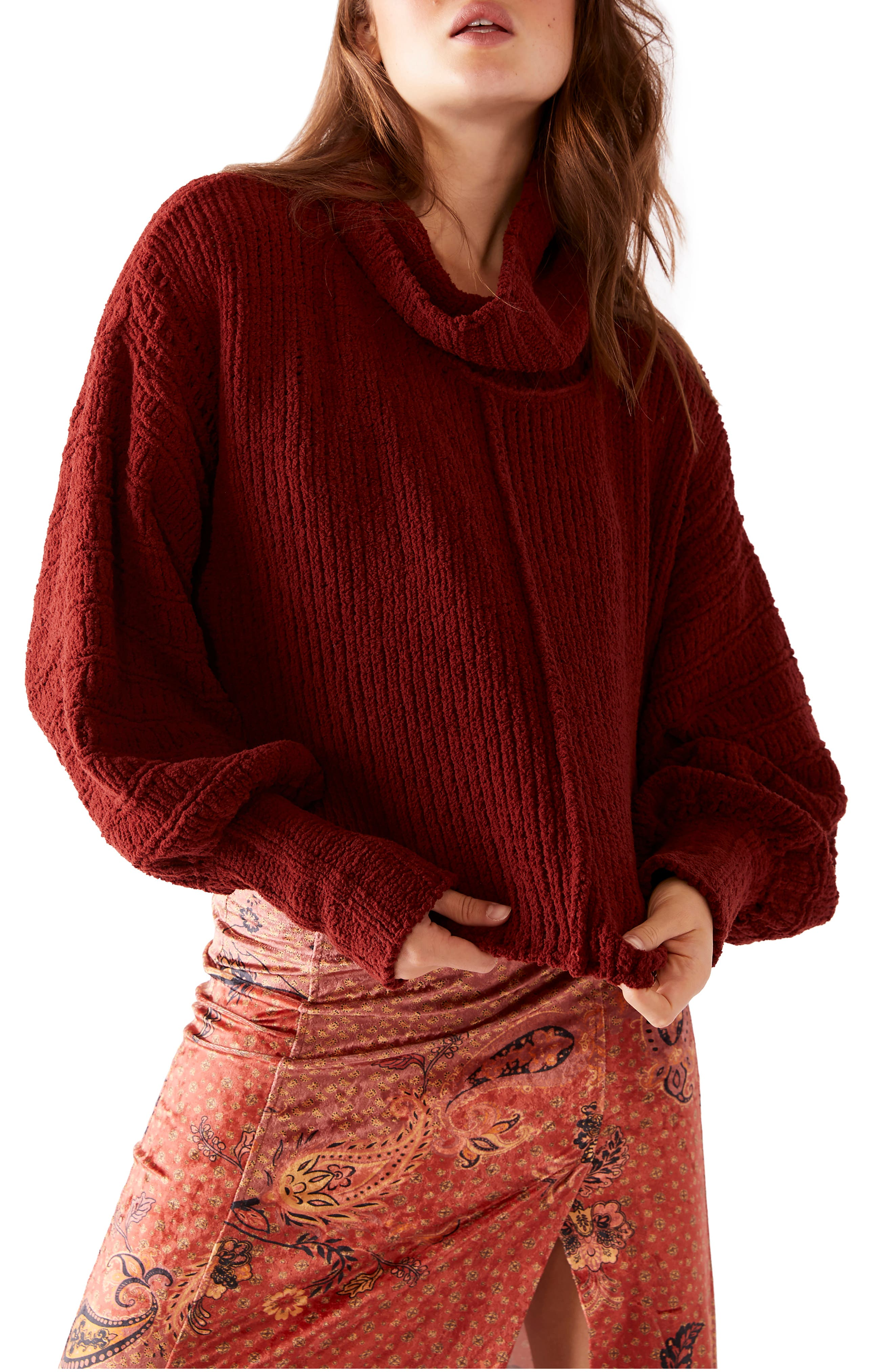 Image of Free People Be Yours Cowl Neck Sweater