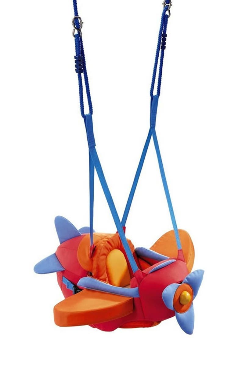 HABA Aircraft Swing, Main, color, RED/ ORANGE AND BLUE