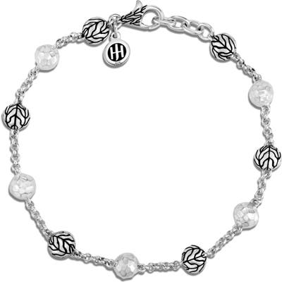 John Hardy Classic Chain Hammered Silver Bead Bracelet