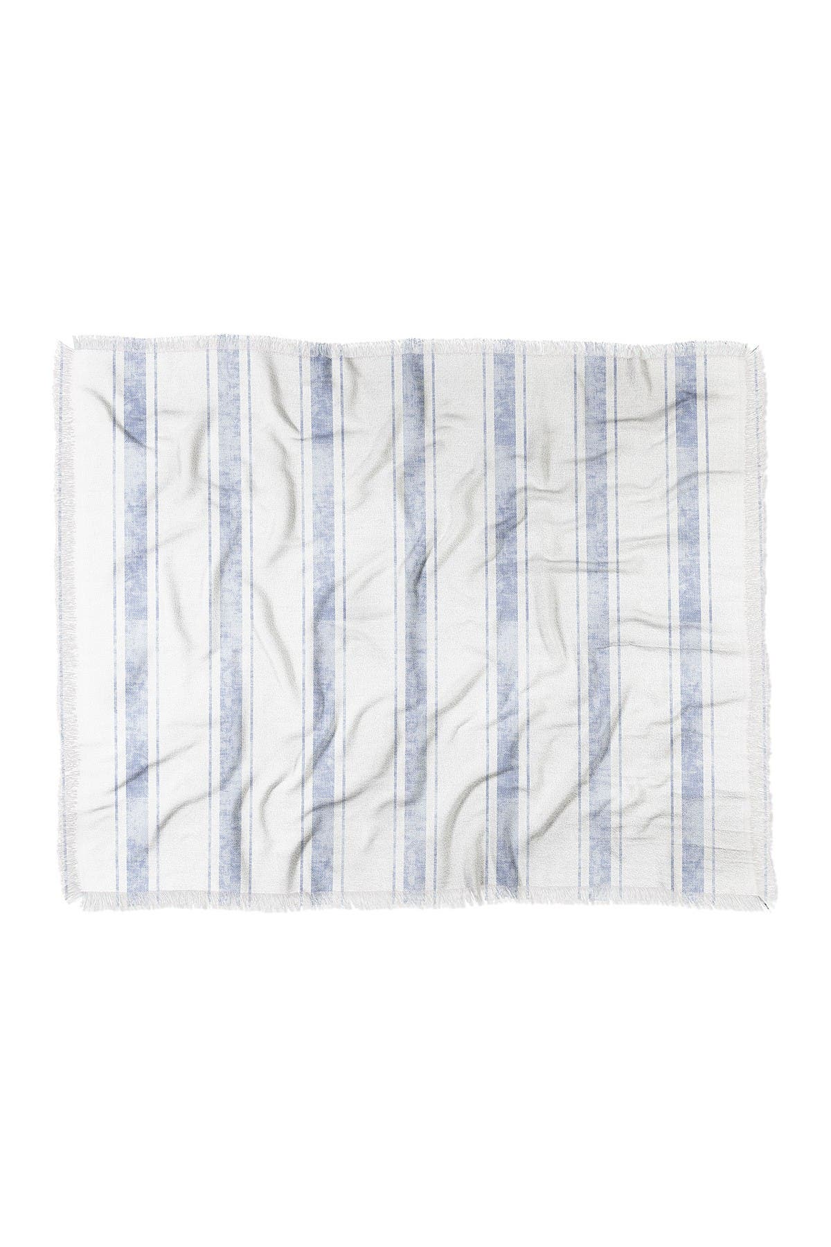 "Image of Deny Designs Holli Zollinger Aegean Bold Stripe Woven Throw Blanket - 60"" x 50"""