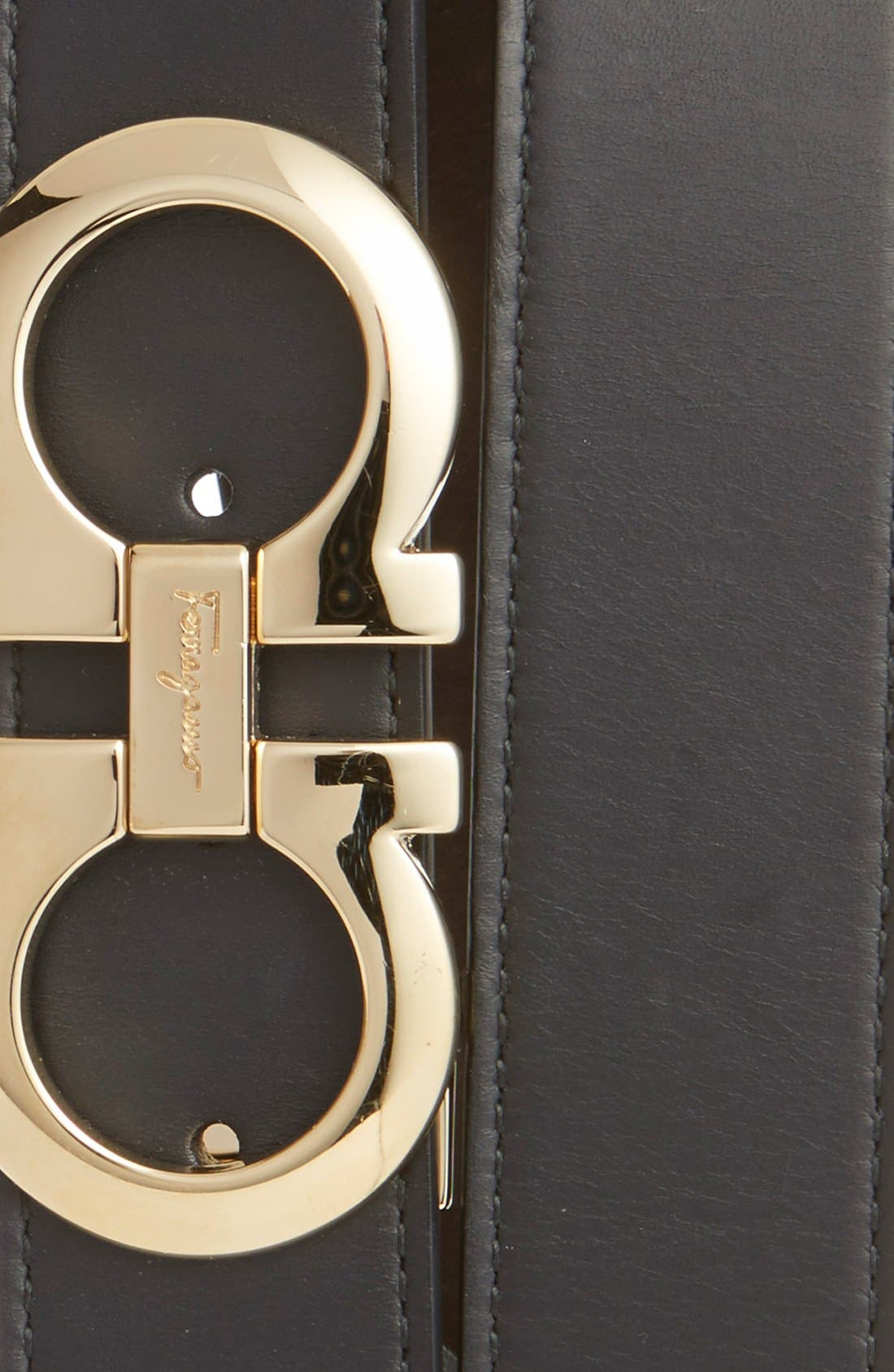 ,                             Reversible Leather Belt,                             Alternate thumbnail 3, color,                             NERO/ HICKORY
