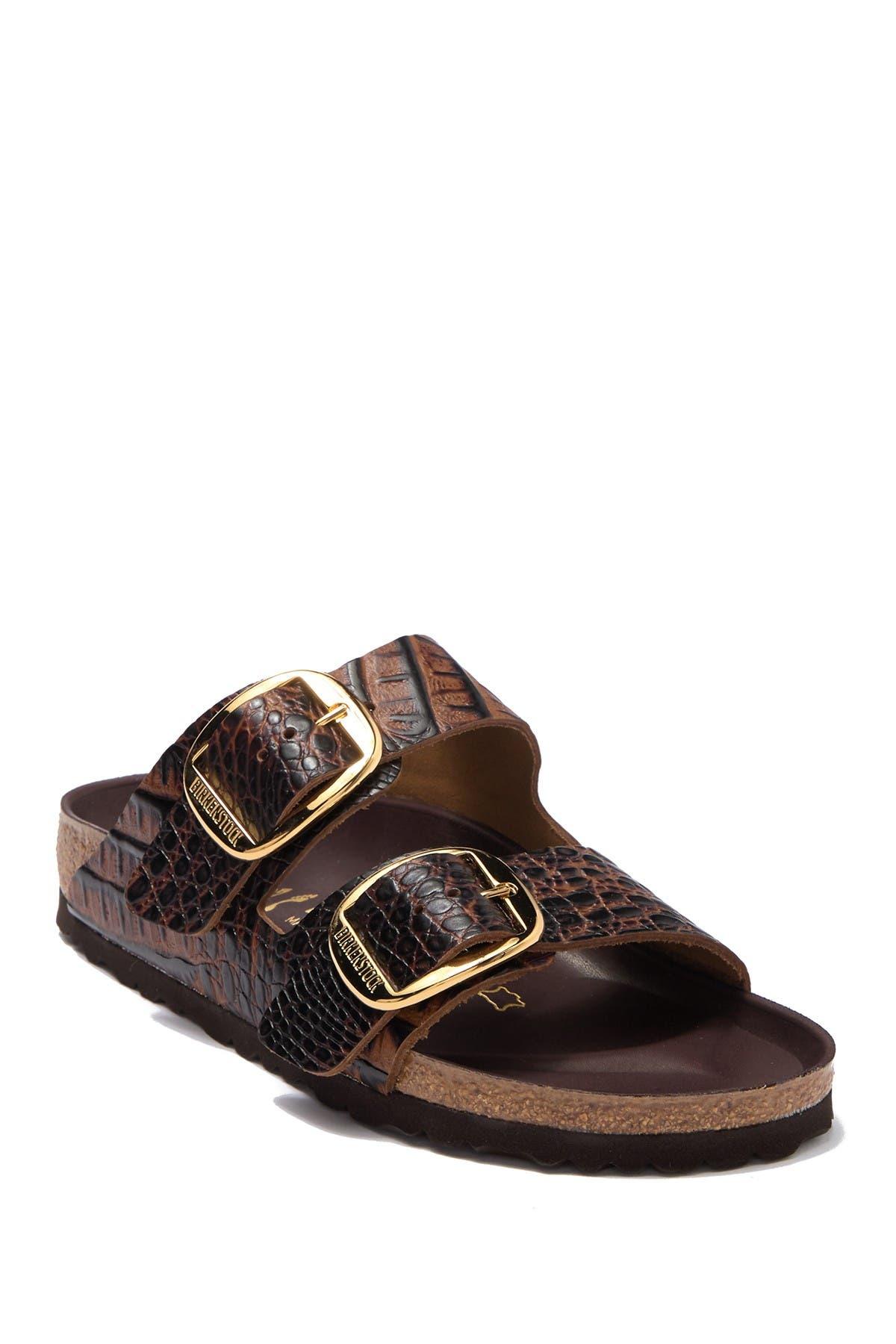 Arizona Croc-Embossed Leather Slide