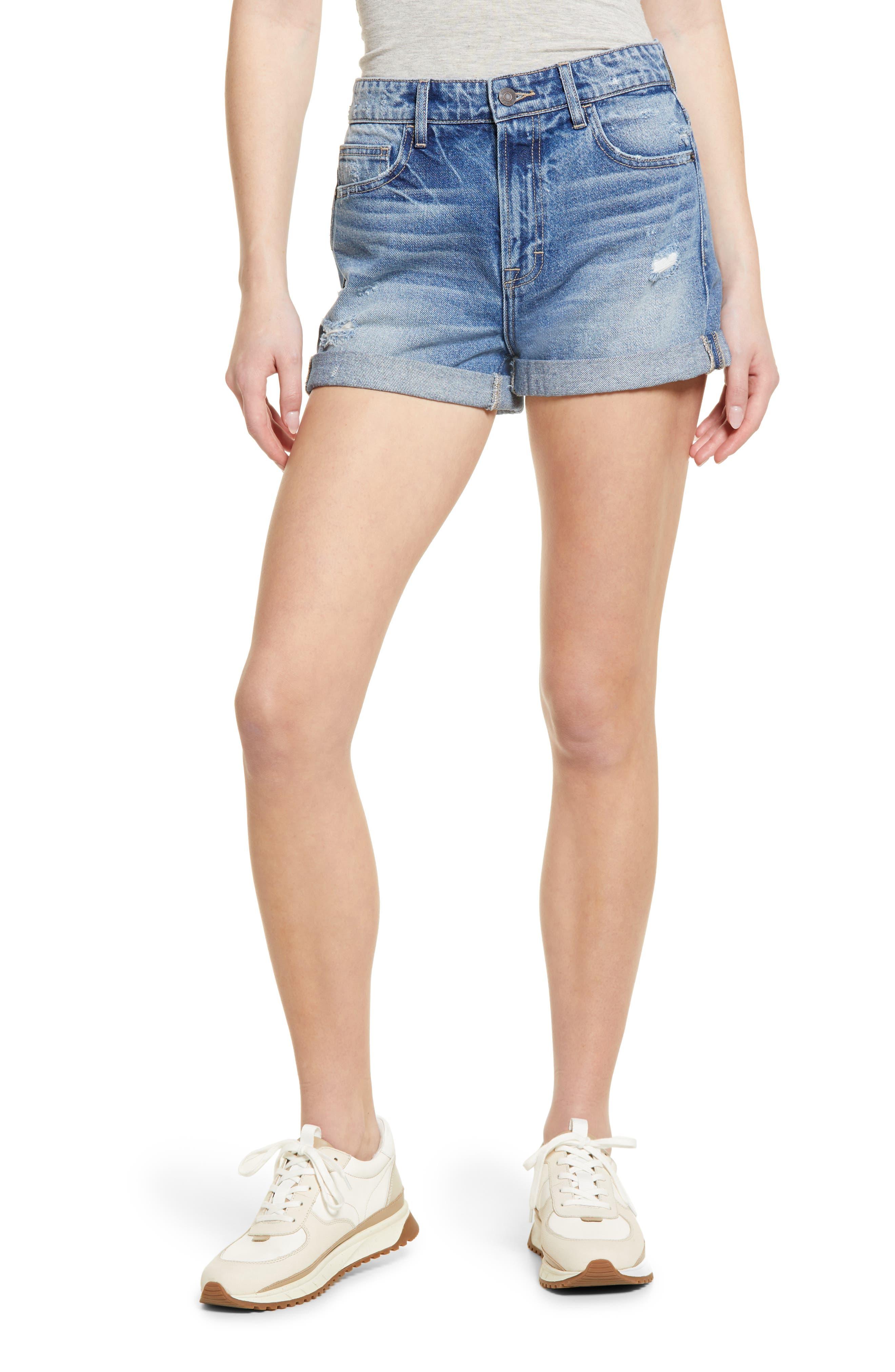 Classic Cuffed Boyfriend Denim Shorts