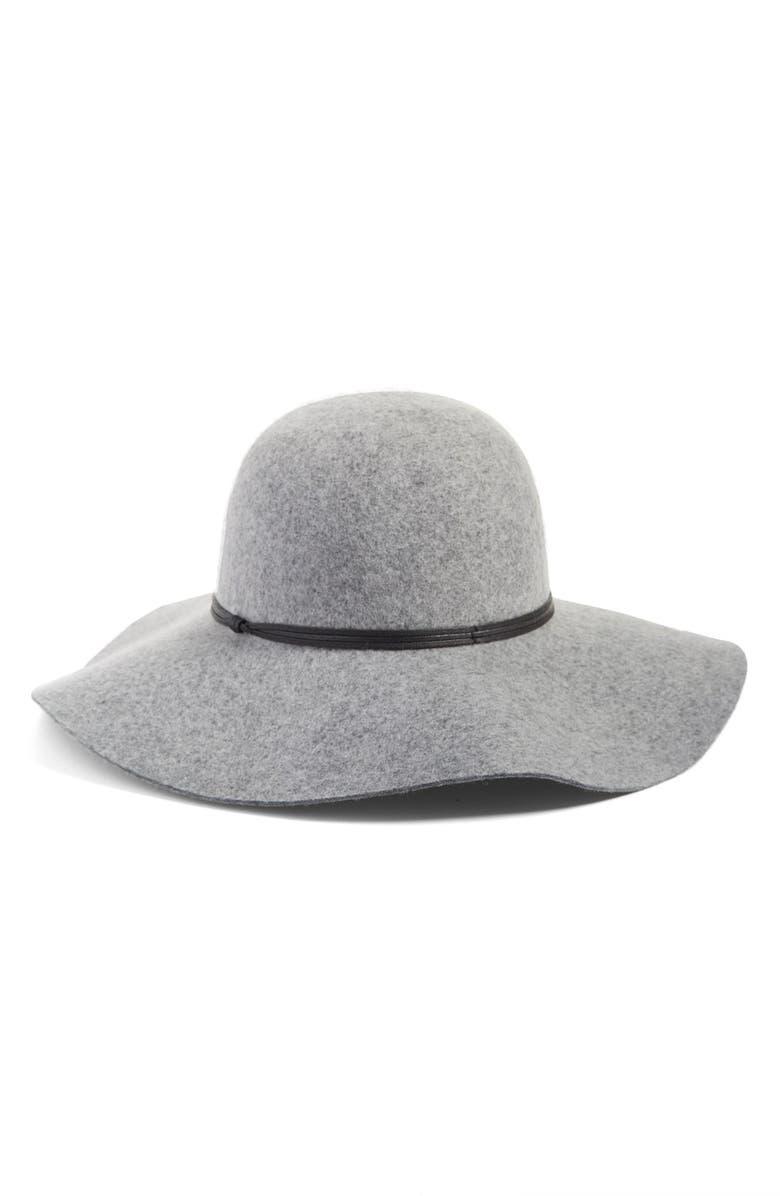 2c41e6d7 Floppy Wool Hat, Main, color, GREY LIGHT HEATHER