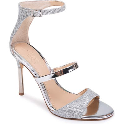 Jewel Badgley Mischka Rihanna Sandal, Metallic