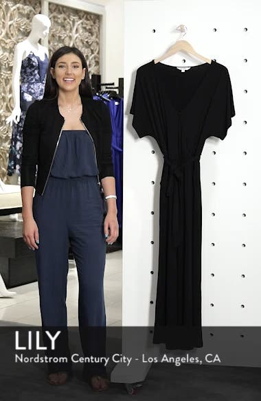 Wrap Front Crop Leg Jumpsuit, sales video thumbnail