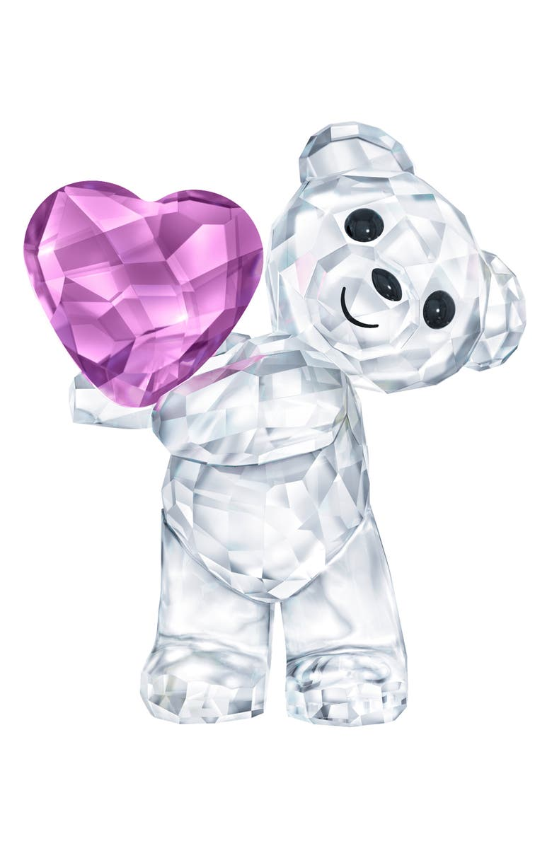SWAROVSKI Take My Heart Kris Bear Crystal Figurine, Main, color, CLEAR/ MULTI