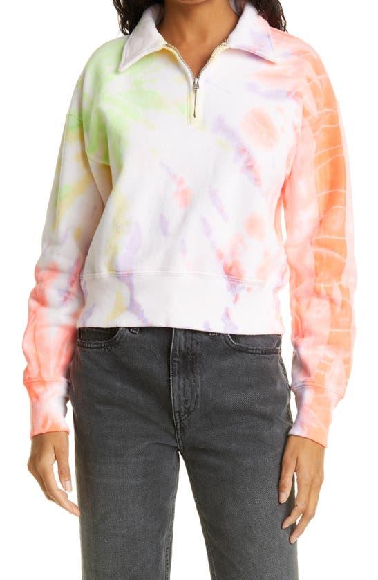 Re/done Sweatshirts '70S HALF ZIP COTTON FLEECE SWEATSHIRT