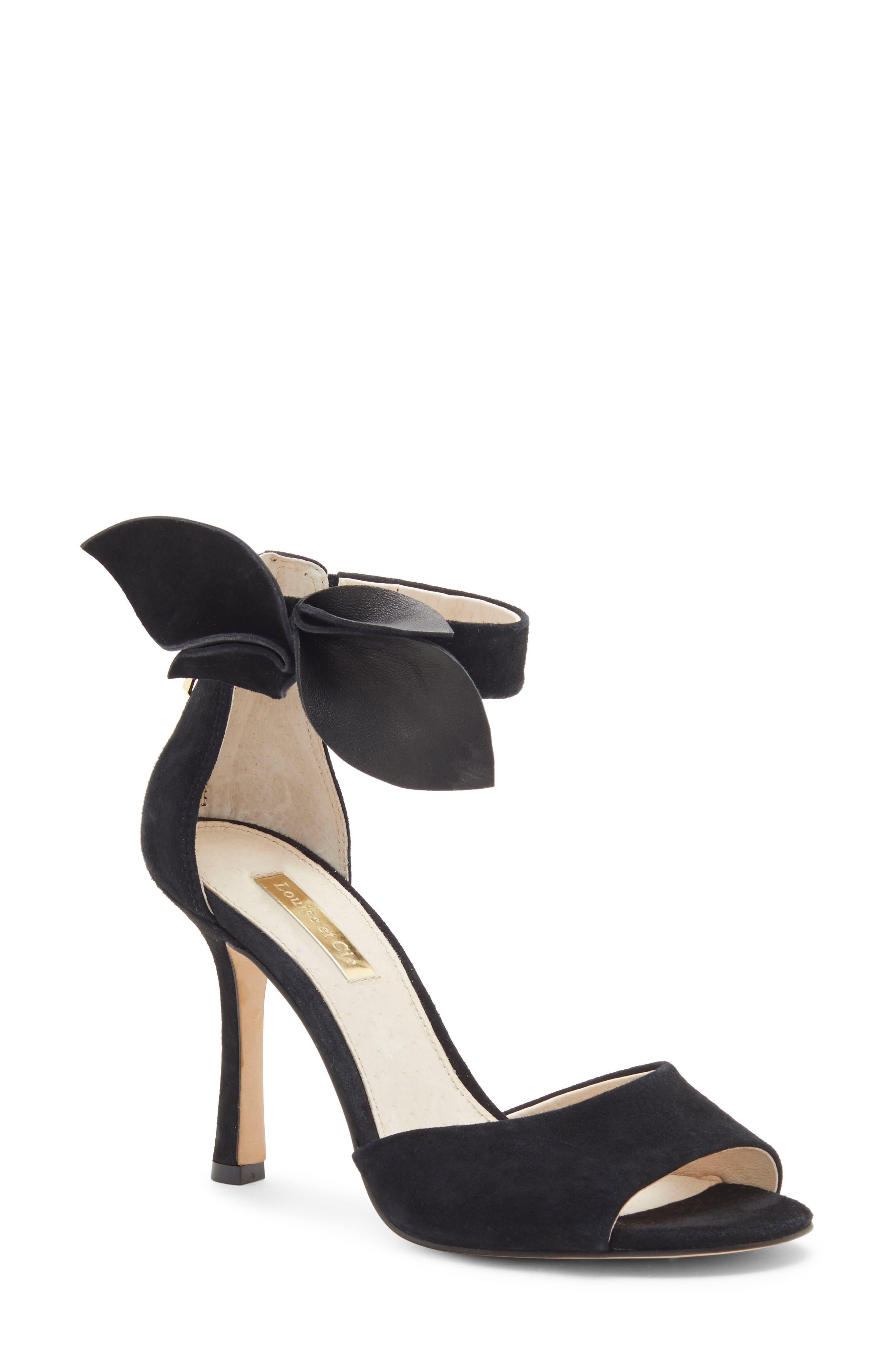 Louise Et Cie Kenbeck Bow Ankle Strap Sandal, Black