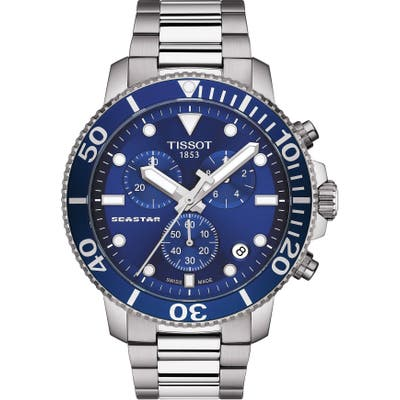 Tissot Seastar 1000 Chronograph Bracelet Watch, 45.5Mm