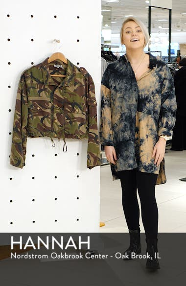 Crop Camo Cargo Jacket, sales video thumbnail