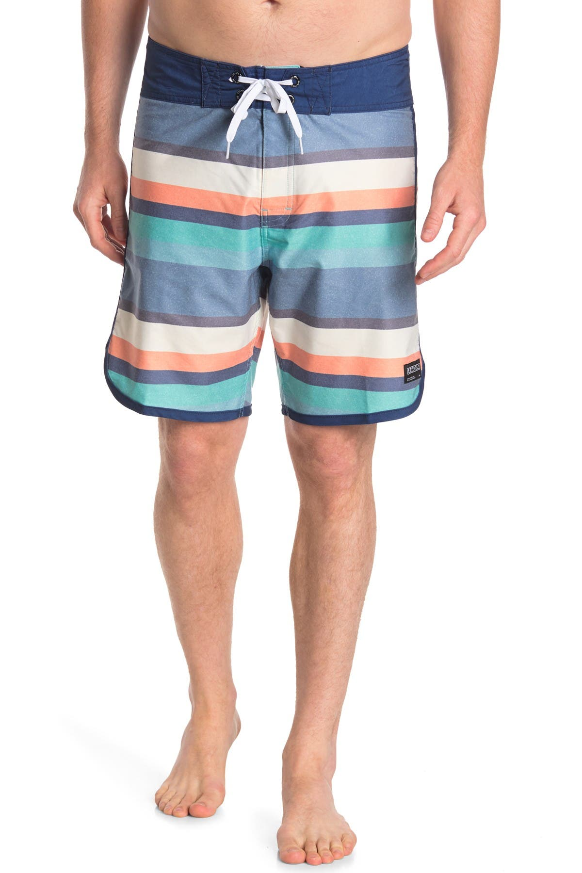 "Image of Ezekiel Weaver Striped 18"" Boardshorts"