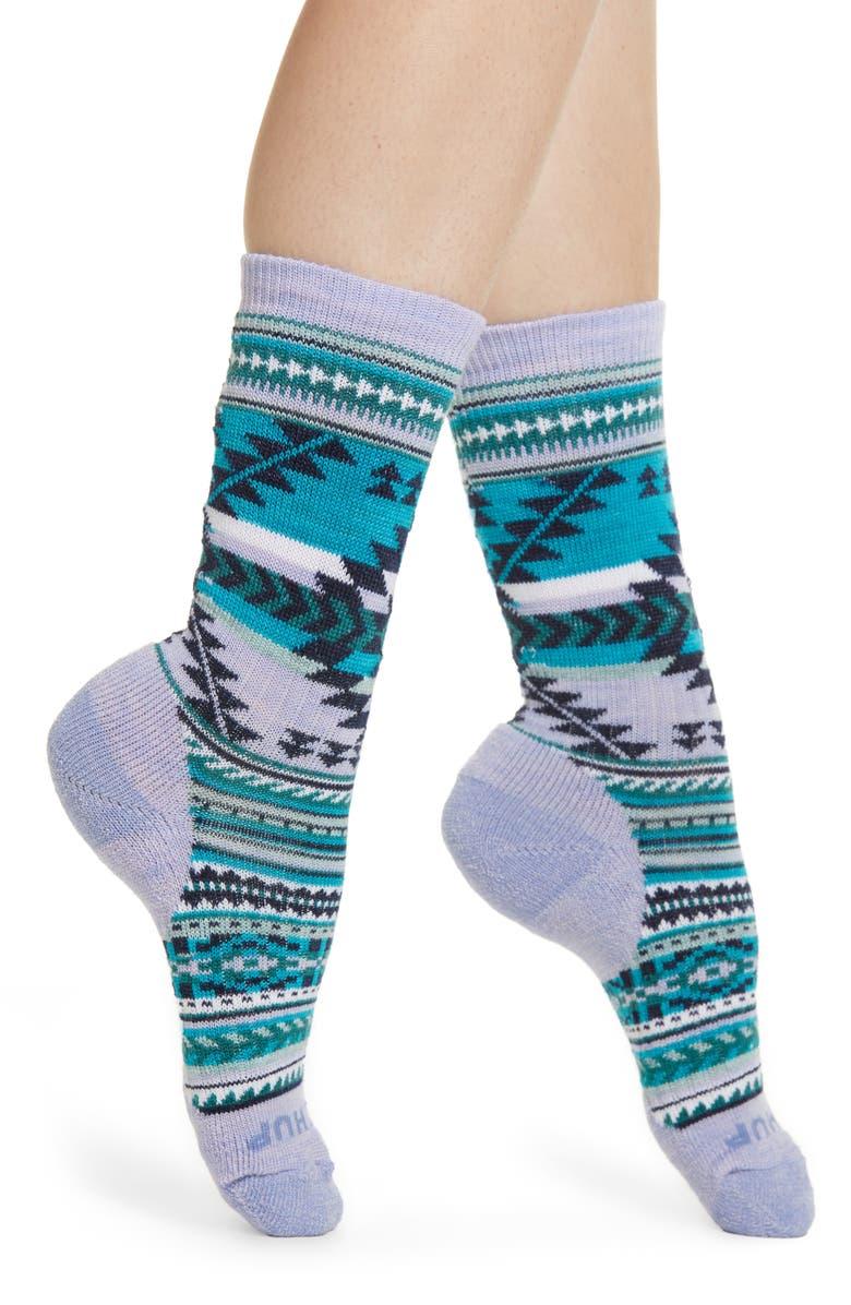 SMARTWOOL x CHUP Premium Potlach Crew Socks, Main, color, PURPLE MIST