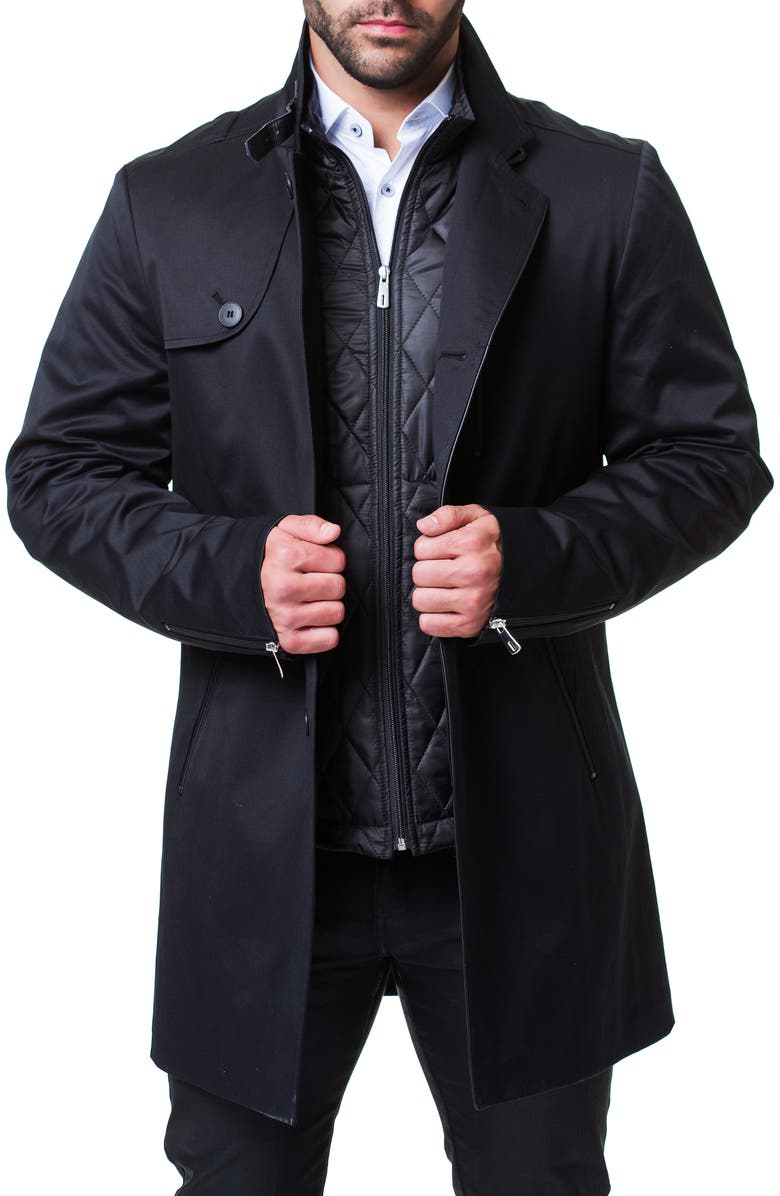 MACEOO 2-in-1 Peacoat, Main, color, BLACK