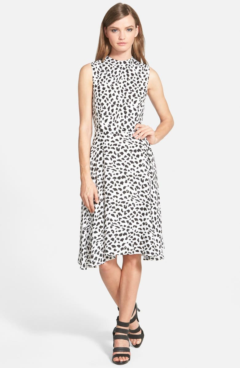 JUNE & HUDSON Animal Print Midi Dress, Main, color, 900