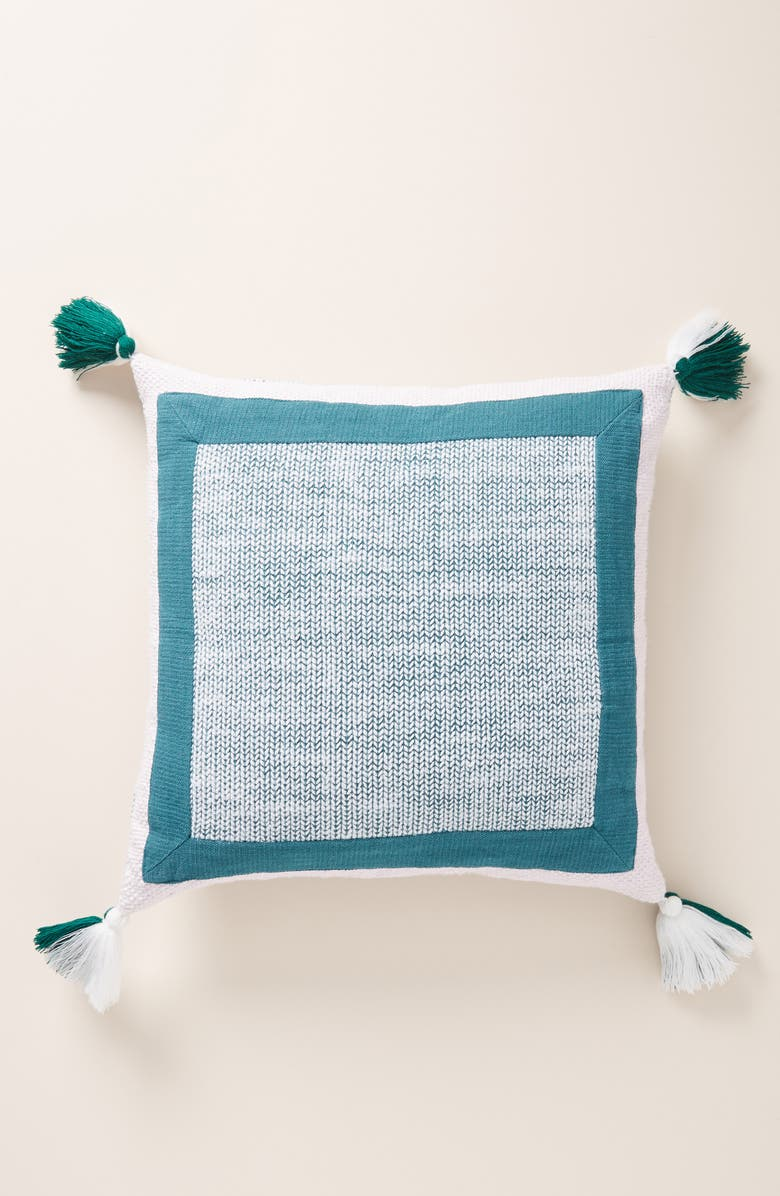 ANTHROPOLOGIE Pacey Tassel Accent Pillow, Main, color, LILAC