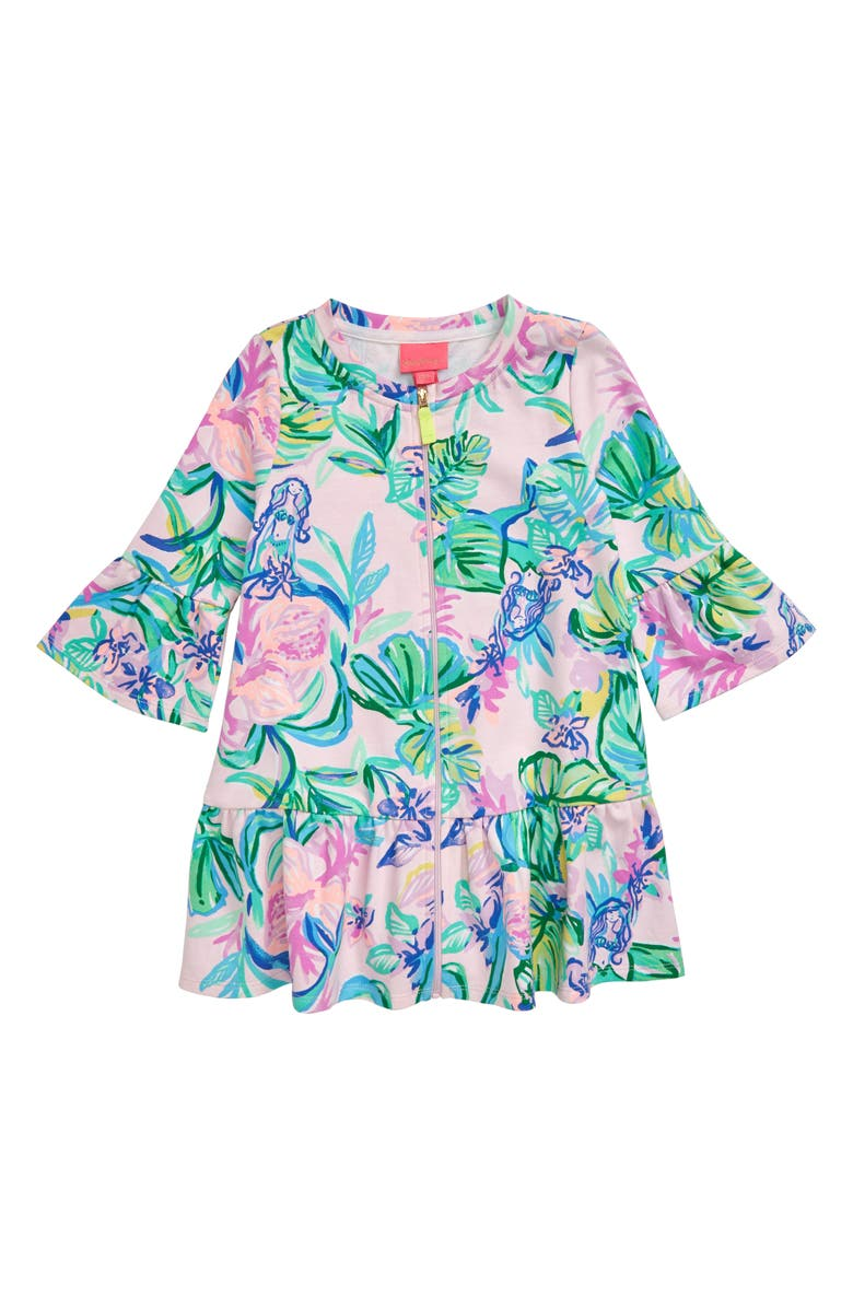 LILLY PULITZER<SUP>®</SUP> Sutton UPF 50+ Cover-Up Dress, Main, color, AMETHYST TINT MERMAID