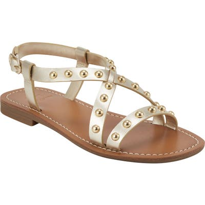 Marc Fisher Ltd Fianna Sandal- Metallic