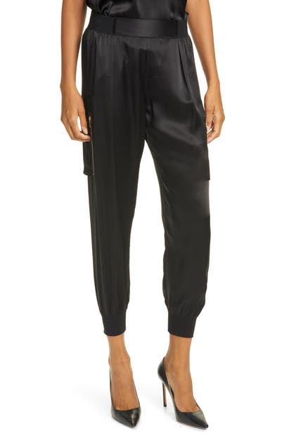 Atm Anthony Thomas Melillo Pants SILK SATIN CARGO PANTS