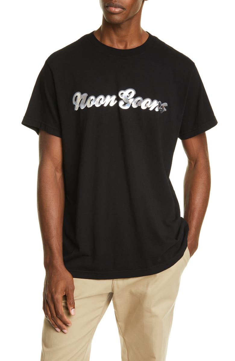 NOON GOONS Mirror Script T-Shirt, Main, color, BLACK