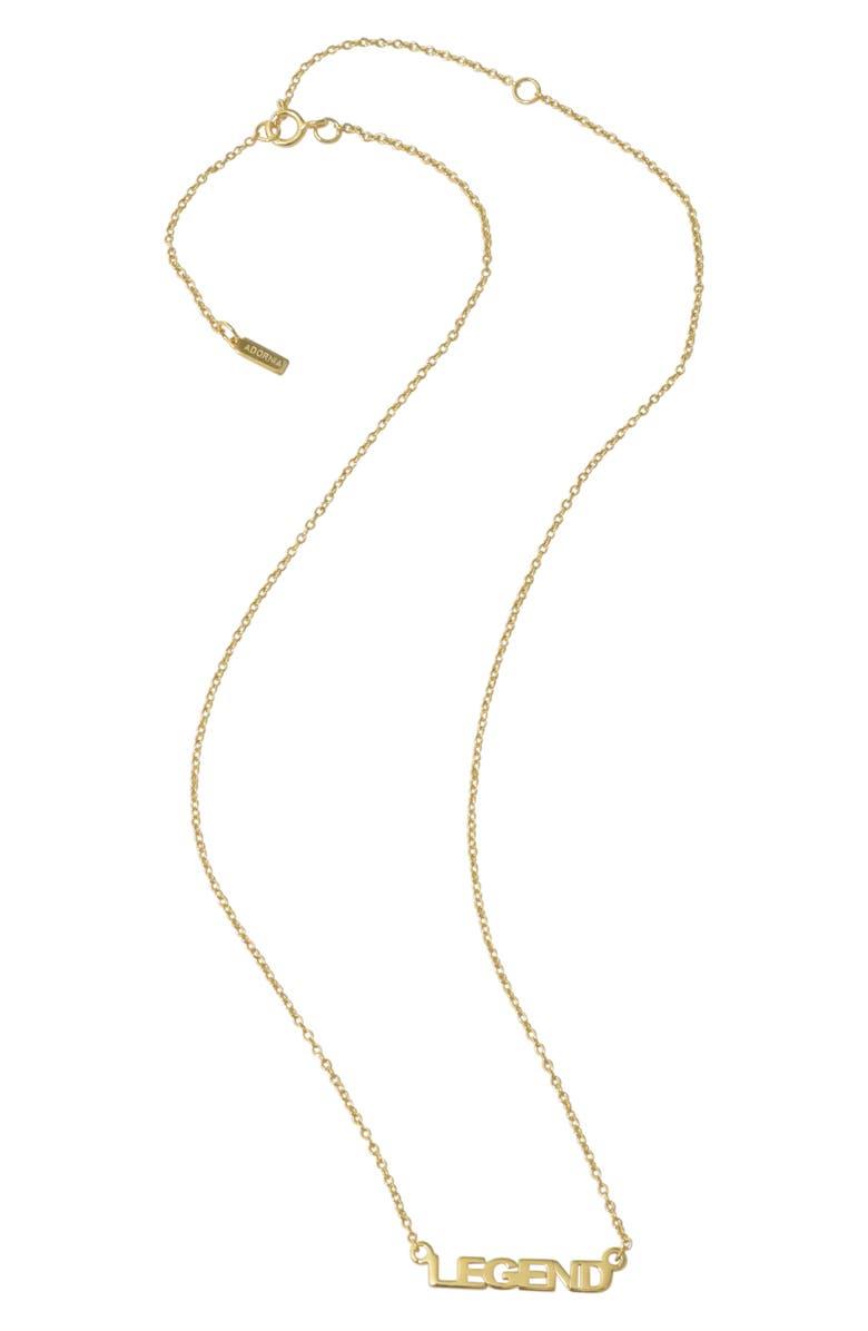 ADORNIA Legend Necklace, Main, color, METALLIC GOLD