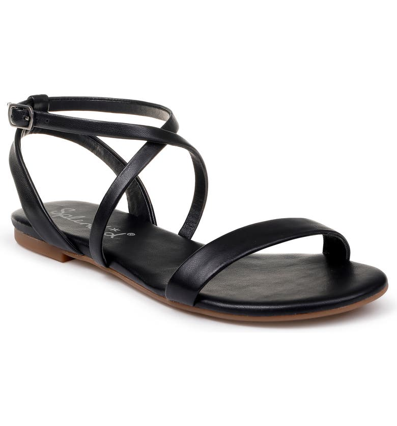 SPLENDID Susannah Strappy Sandal, Main, color, BLACK LEATHER