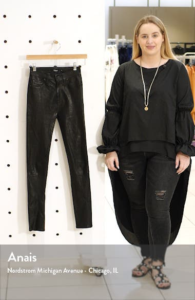 Hudson Barbara High Waist Super Skinny Leather Pants, sales video thumbnail