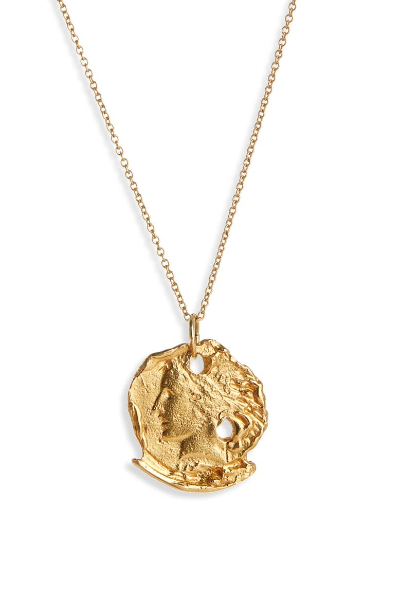 ALIGHIERI The Forgotten Memory Necklace, Main, color, GOLD PLATED