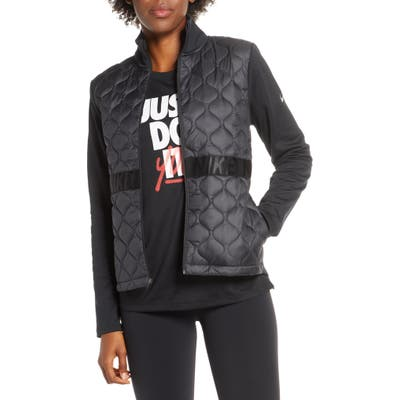 Nike Aerolayer Water Resistant Insulated Jacket, Black